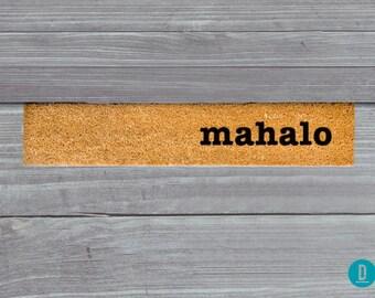Mahalo Skinny Doormat, Mahalo Door Mat, Mahalo Welcome Mat, Skinny Door Mat, Skinny Doormat, Slim Doormat, Mahalo, Mahalo Mat, Thin Doormat
