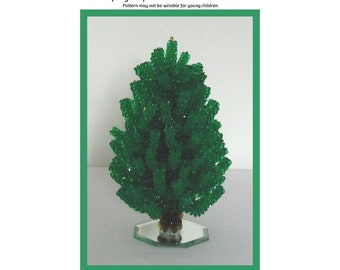 Green Beaded Tree Beading Pattern / Tutorial PDF Step-by-Step Detailed Instructions