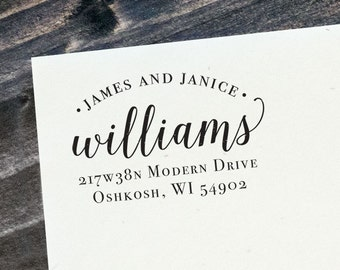 Address Stamp Customized for you - wooden rubber - modern - calligraphy - wedding invite stamp