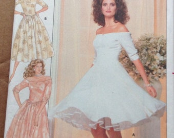 Dance, prom, party dress! Butterick sewing pattern.