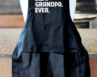 Best Grandpa Ever, Barbecue Gift, Personalized Gift for Grandpa, BBQ Accessories, Barbecue Apron, Fathers Day Gift for Grandpa, Grill Apron