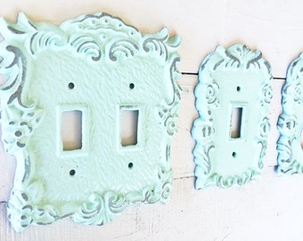 52 COLORS, Light Switch Cover , Light Switch Plate , Single Light Switch Cover ,Shabby Chic Decor ,French Country Decor ,Spring ,Customize