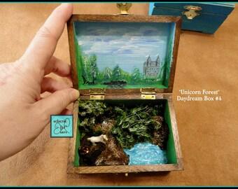 Unicorn Forest Miniature Diorama Box