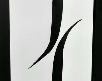 Tips of ink black. Zen. Minimalist