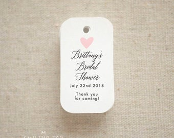 Thank you For Coming Bridal Shower Favor Tags - Bridal Shower Baby Shower Favor Hang Tag- Wedding Favor Tags- Set of 40 (Item code: J680)