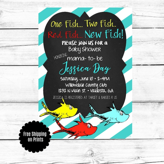 Dr. Seuss Invitation