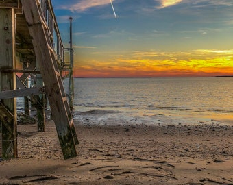 Sunset photo with boardwalk