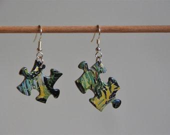 Puzzle Van Gogh - pair earrings
