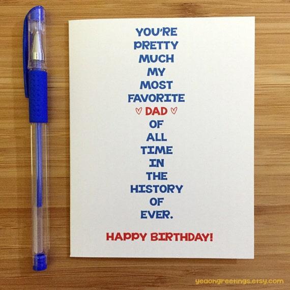 Happy Birthday Dad Card For Dad Funny Dad Card Cute Card