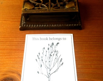 Ex Libris Birch Tree 25 Personalized Booklabels Bookplates This book belongs to