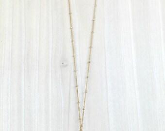 Raw Amethyst Necklace, Raw Stone Necklace, Layering Necklace, Satellite Chain Necklace, Raw Amethyst Pendant, Boho Amethyst Necklace
