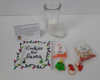 Miniature Cookies for Santa Set - 15-18 Inch Doll Santa Cookies Set for American Girl Sized Doll, Elf, or Stuffed Animal