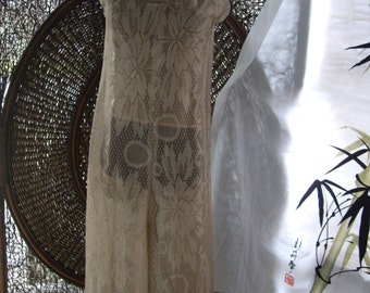 Custom Tan wide leg palapolozza high fashion lace jumpsuit,  Ready to ship med sz  8 10