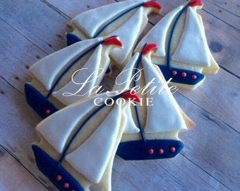Nautical Sailboat Sugar Cookies (1 dozen)