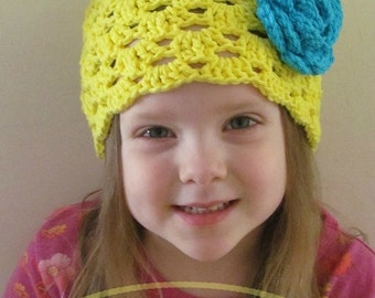 Rae of Sunshine Cloche Crochet Hat Pattern PDF 109