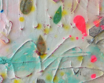 Blooming Spring - Original 5x7 abstract painting
