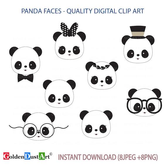 Cute Panda Faces Clip Art Panda Clip Art Panda Faces Kawaii