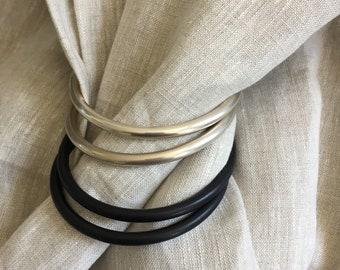 Neutral Ring Sling - Linen Ring Sling - Gender Neutral - Baby Carrier - Baby Sling - Baby Wearing Sling - Grey Ring Sling - Grey Linen.