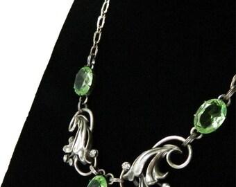 Vintage 1940s Sterling Silver Necklace