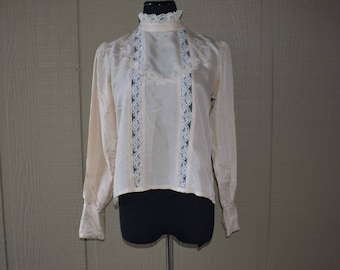 Vintage 1970's Contempo Casuals silk blouse