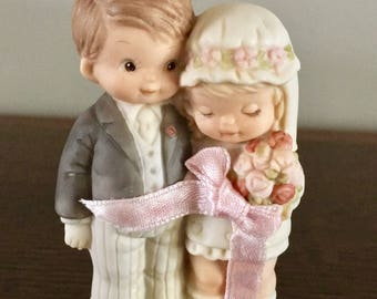 """Memories of Yesterday """"Christmas Together"""" Bride and Groom Hanging Ornament from the Mabel Lucie Attwell Collection by Enesco"""