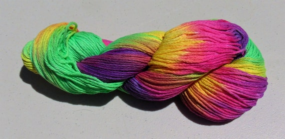 Dancing Bears- 100 Organic Cotton, Hand Dyed Bulky Weight Variegated Yarn