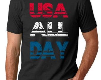 4th July T-Shirt USA All Day Tee Shirt USA T-Shirt