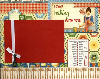 Love Baking With You - Premade Cooking Scrapbook Page