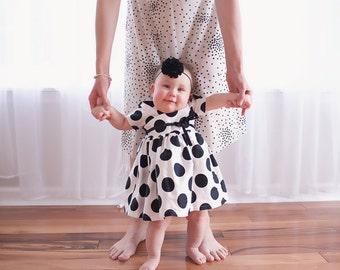 Black baby headband,  infant headband, newborn headband, black baby hair bow, baby hair band, photo prop, black flower, black headband