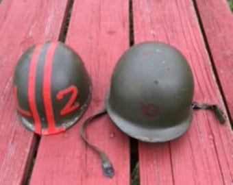 Texas A&M Cadet Officer - U.S. Army Helmet with Inner Shell Liner- Nice condition- Military