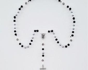 Gray & Black Saint Michael Rosary