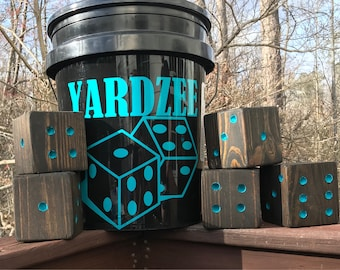 Yardzee Set Or Dice Only - Lawn Games - Yahtzee - Large Wooden Dice