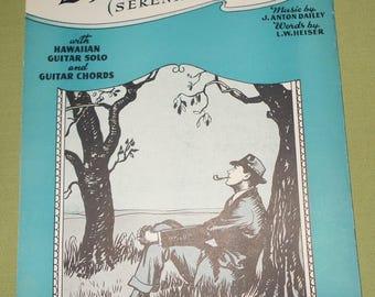 1940 Sheet Music ~ Dreaming - Serenade