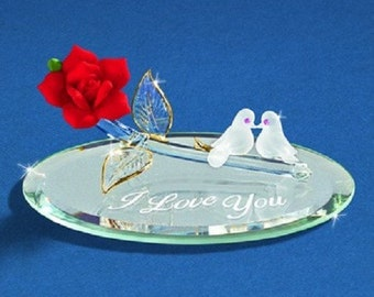 "Glass Baron Doves Of Love ""I Love You"""