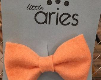 Orange Sherbet Boy Bow Tie - Boys Fashion - Boy bow - Newborn Photos - first birthday - family photos - baby boy - baby boy gift - baby tie