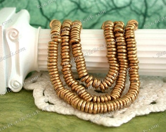 4mm Raw Brass Spacers, Metal Spacers, Brass Spacers, Spacer Beads, Metal Spacer Beads MB-021