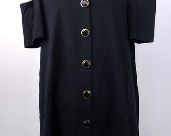 Color Block Mini Dress 80s Fashion Style Trapeze Style