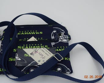 Clutch | ID wristlet | ID Clutch | Cellphone Clutch | Cell Phone Wallet | Credit Card Wallet | Coin Purse |  NFL Seahawks
