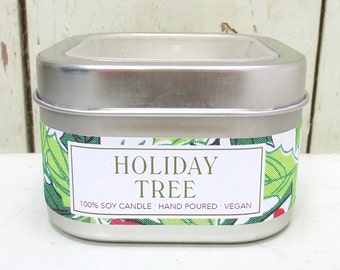 Holiday Tree Soy Candle 8 oz. - Green Daffodil - Anne and Siouxsan - C8