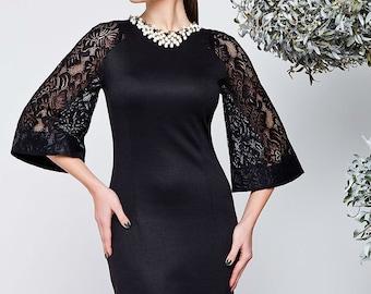Black dress Combined dress Christmas dress Autumn dresses Winter dress  Occasion dress for women Evening Dress  halter Elegant Spring dress