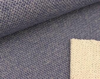Stricksweat Ben in Chevron optics jeans blue (17.50 EUR / meter)