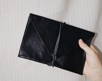 Sleek Black Wrap Envelope
