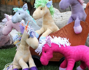 Unicorn, Horse Stuffed Animal - Personalized/Customized