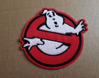 Free US Shipping / Sew on Patch / Ghostbusters logo Slimer / die cut / small / Jackets / Bags / Crafts / who you gonna call