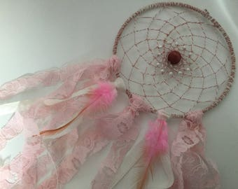 Life in pink with this lovely dream catcher