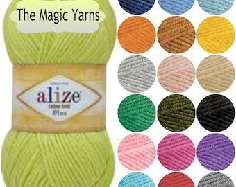 Alize COTTON GOLD PLUS- cotton yarn,dk yarn,knitting cotton yarn,crochet cotton yarn, cotton blend yarn,acrylic yarn,baby yarn,soft yarn