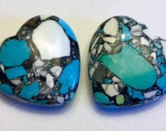 Heart of Stone, pendant bead, focal beads (2)