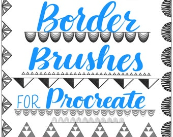 25 Border Brushes for Procreate App