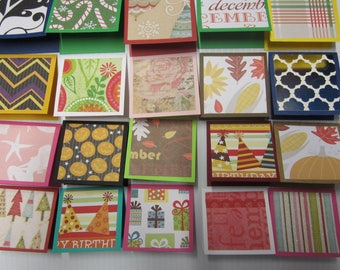 20 little mini notecards, lunch box love notes, mini shop notecards, tiny mixed lot notecards, 2 x 2 mini notecards, blank notecards, 004