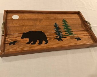 Bear Wooden Serving Tray